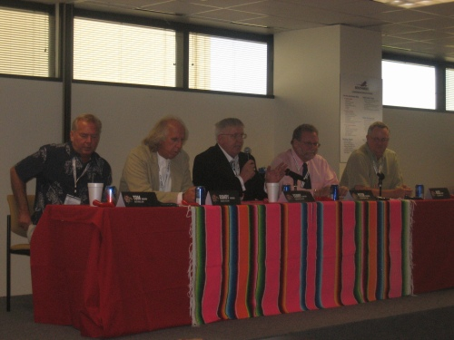 Tom Parsons, Randy Petersen, Terry Trippler, Peter Greenberg, and Rick Seaney